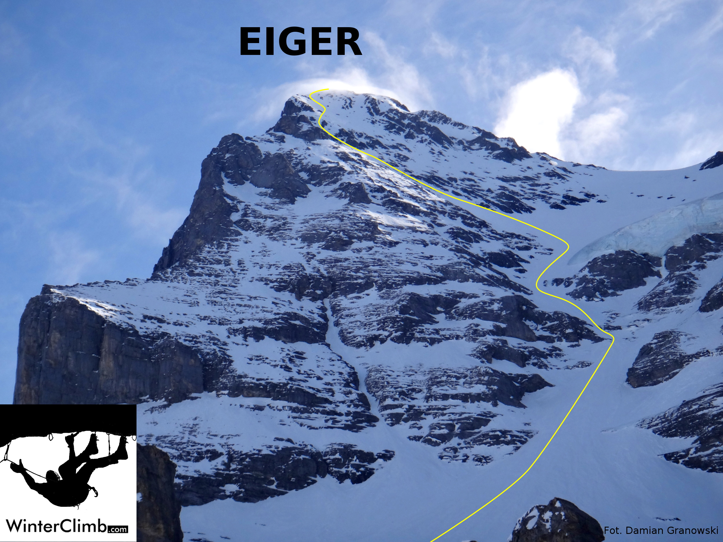Eiger west face on skis almost winterclimb our reheart Images