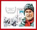 Postage stamp with Jerzy Kukuczka