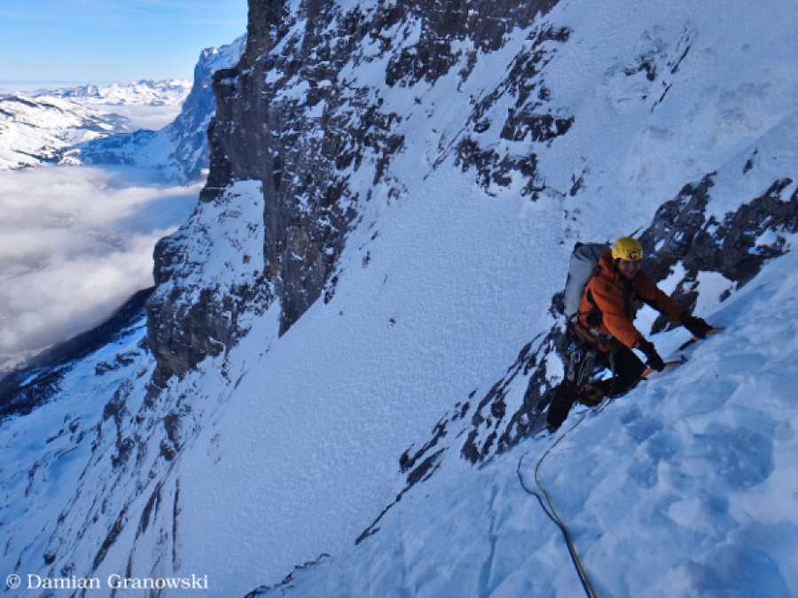 Eiger heckmair route ed2 classic winterclimb eiger heckmair route ed2 classic reheart Images
