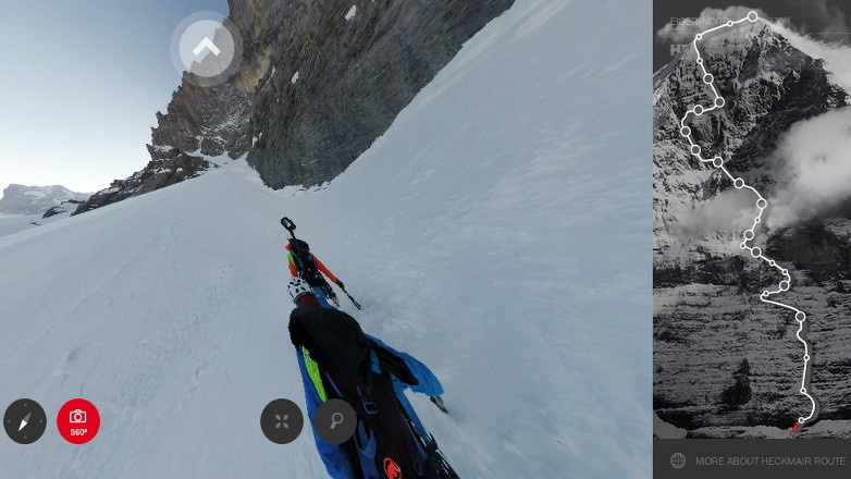 Virtual walk on Eiger