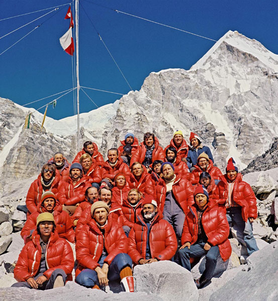 members of polish expedition on mount everest 1980