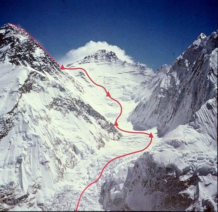 mount everest route 1980 winter ascent